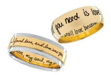 Jewelry Engraving By Machine Laser Inscrived And Hand Written