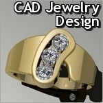 CAD CAM Jewelry Design and fabrication by Mansfield Designs Fine & Custom Jewelry